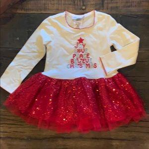 Bonnie Jean Christmas dress. Like new!